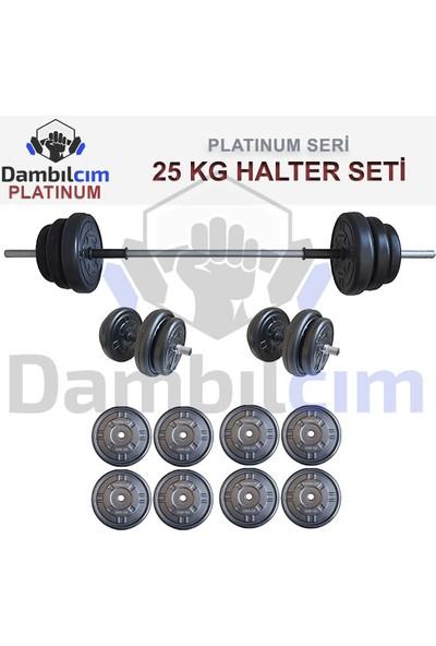 Bofigo Dambılcım Platinum 25 kg Halter Seti 25 kg Dambıl Seti Ağırlık Seti Vücut Geliştirme Aleti