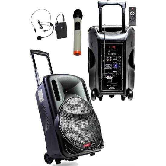 Lastvoice 200 Watt Ekholu Kablosuz Mikrofonlu Şarjlı Mevlüt Anfisi (Bluetoth Usb)