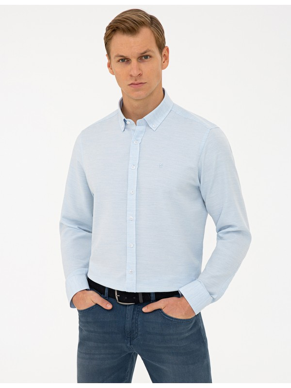 Pierre Cardin Mavi Slim Fit Gömlek 50240408-VR036