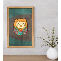 Bk Gift Baykuş Dekoratif Retro Ahşap Tablo-4