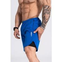Gymwolves Erkek Spor Şort Çift Katmanlı | Mavi | Comfortable Serisi