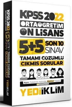 Yediiklim Yayınları KPSS 2022 Ortaöğretim Ön Lisans Genel Yetenek - Genel Kültür Son 10 Sınav Tamamı Çözümlü Çıkmış Sorular