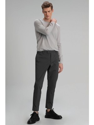 Lufian Erkek Ricy Smart Chino Tailored Fit Pantolon 627111190105 Gri