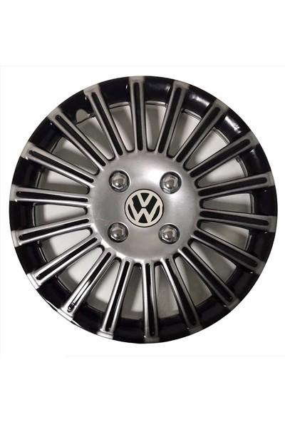 HMNL Volkswagen Caddy 15'' Inç Gri - Siyah 4'lü Set Jant Kapağı Çelik Jant Görünümlü