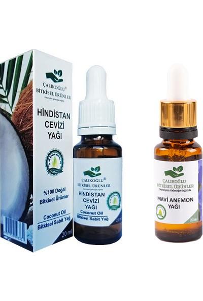 Çalıkoğlu Bitkisel Ürünler Hindistan Cevizi Yağı - Mavi Anemon Yağı 2'li Paket 20 ml