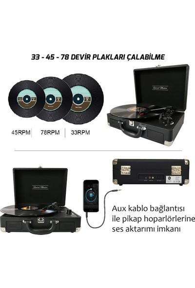 Record Master Retro Pikap T310CH - Şarj Özellikli - Siyah