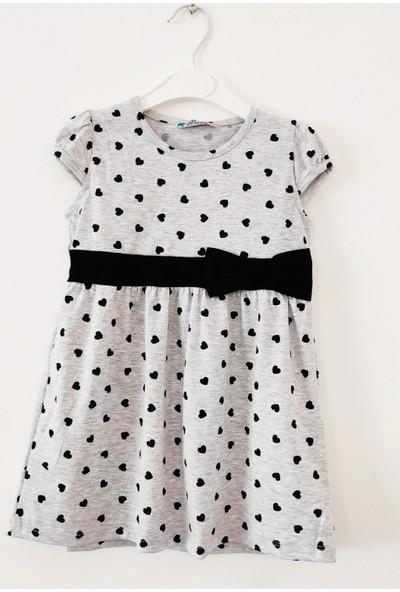 Kız Çocuk Kalpli Penye Elbise