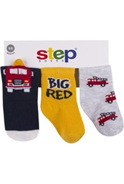 Step Çorap Soket 3lü Üç Boyutlu Firetruck