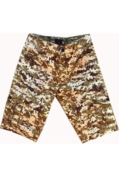 Army Çöl Dijital Kamuflaj Bermuda Kapri Pantolon (Kemer Hediyeli)
