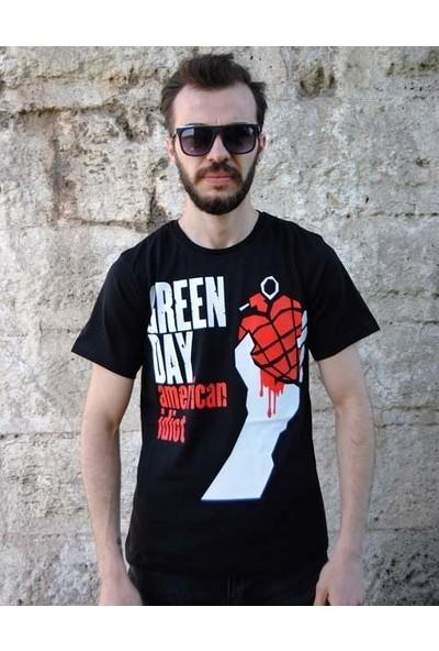 Orijin Green Day Tişört(10) American Idiot