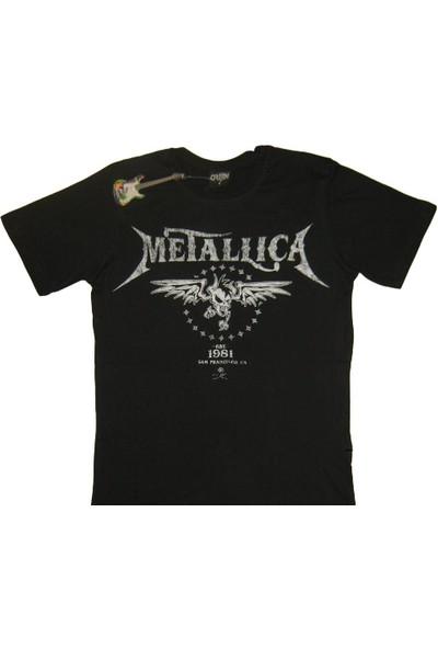 Orijin Metallica Siyah Erkek Tişört(10)