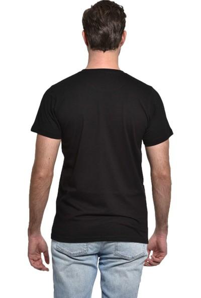 Orijin Kurukafa Zincir Siyah Erkek Tişört