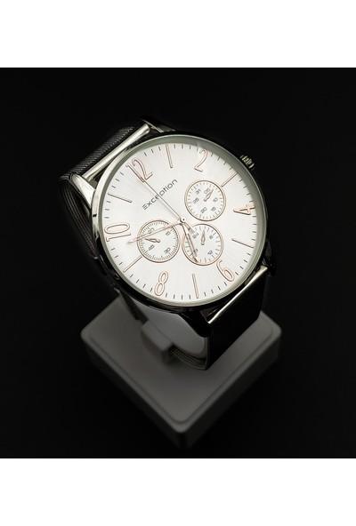 Exception Hasır Kordon Gümüş Renk Erkek Kol Saati 6052H