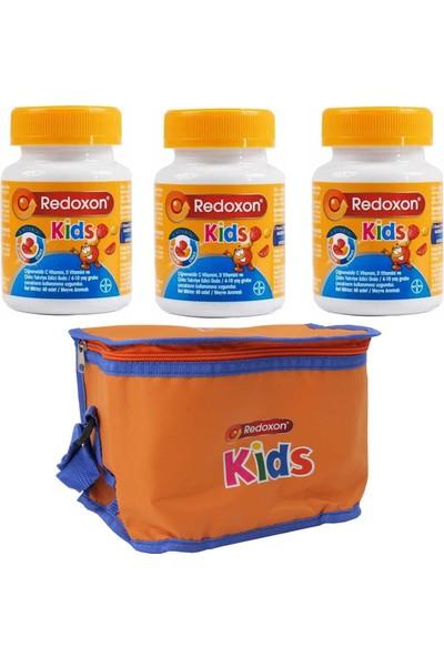 Redoxon Kids 60 Çiğnenebilir Tablet 3 Adet + 1 Adet Termos Çanta