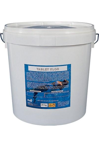 Pina Yüzme Havuzu Tablet Klor %90 25KG Havuz Kimyasalları