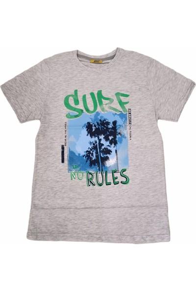Almi Erkek Çocuk Surf Yazı Desenli Tişört