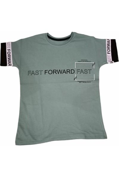 Maccaboy Erkek Çocuk Fast Yazı Desenli Tişört