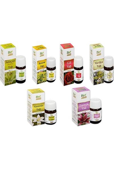 Bio Vitals Yağ Seti (Ada Çayı, Rezene, Gül, Vanilya, Yasemin ve Zambak) 20 ml x 6