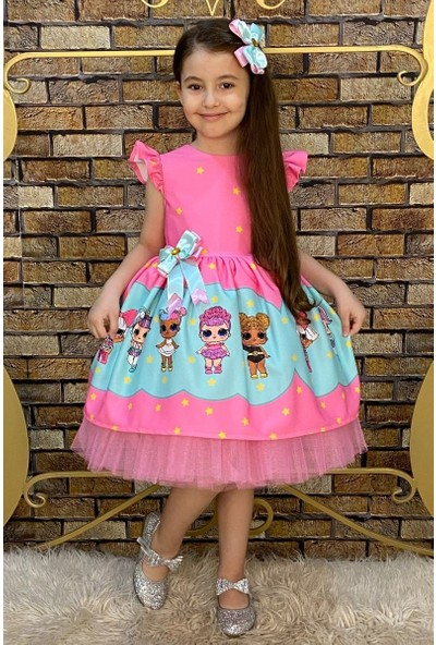 Riccotarz Kız Çocuk Lol Baby Star Pembe Elbise