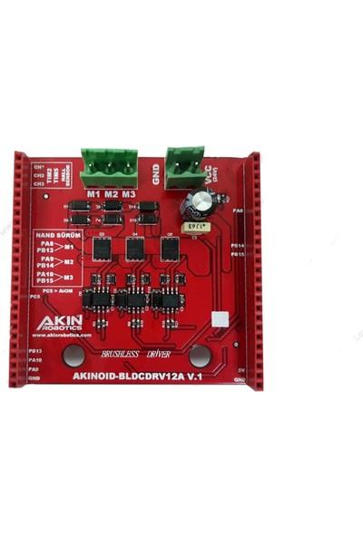 AKINROBOTICS Sürücü SHIELD-BLDCDRV12A