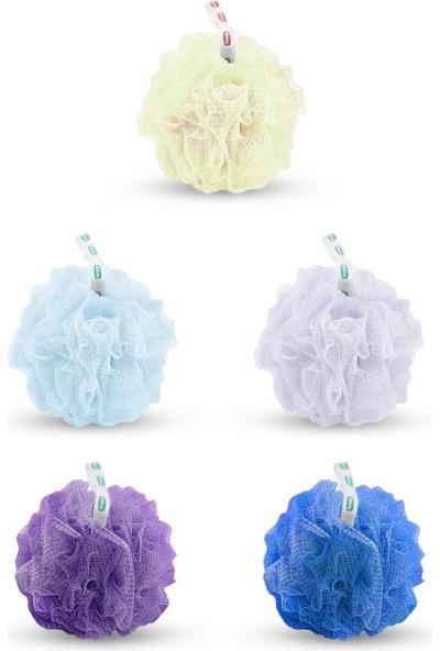 Pazariz Yumuşak Ponpon Duş Lifi Banyo 5 Farklı Renk Kese Tekli