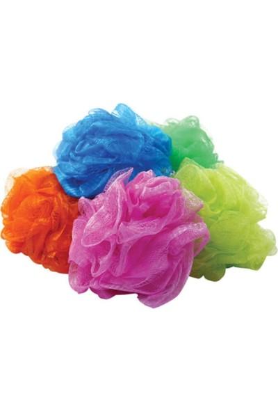 Pazariz Yumuşak Ponpon Duş Lifi 5 Farklı Renk Banyo Kese Tekli