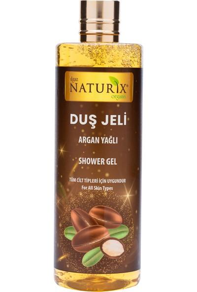 Naturix Organik Japon Kirazı Duş Jeli 400 ml + Keçi Sütü Duş Jeli 400 ml + Argan Yağlı Duş Jeli 400 ml