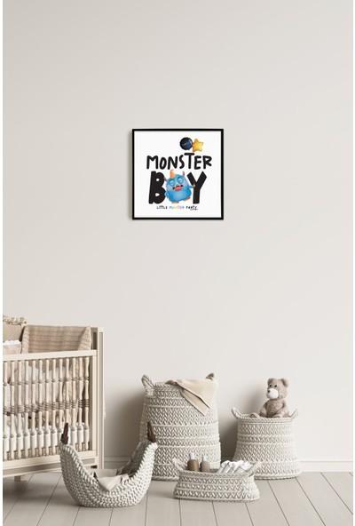 Popcorn Kids Monster 01 Duvar Pano (Tekli)