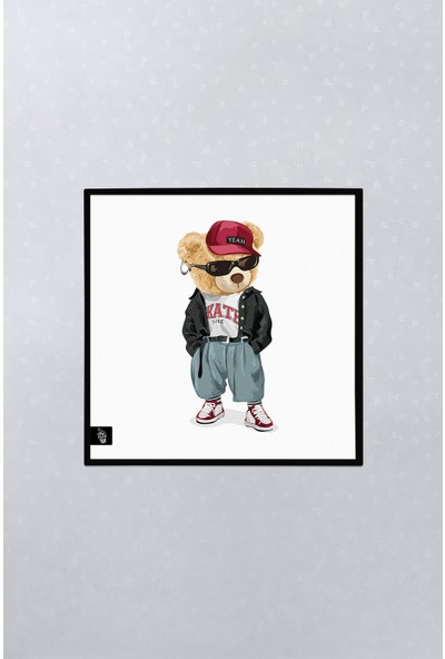 Popcorn Kids Teddy Bear 03 Duvar Pano (Tekli)