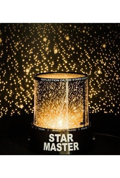 Hediye Deposu Star Master Gece Lambası Yeni Moda Renkli Yıldızlar Sky LED Gece Işığı