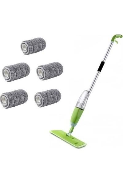 Scratch Anet Flora Sprey Mop Temizlik Seti Spray Mop 5 Microfiber Bezli