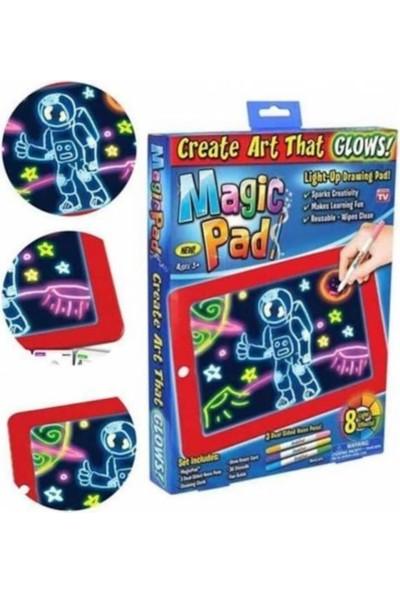 Nostaljik Lezzetler Magic Pad Yazı Çizim Tahtası Resim Şekil Tablet Tipi Işıklı Ledli
