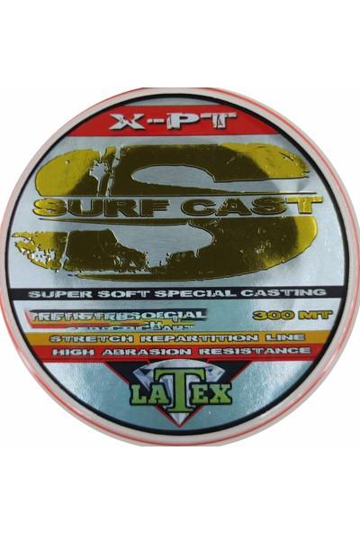 Latex Surf Cast 300M Super Soft Uzak Atış Misinası Turuncu
