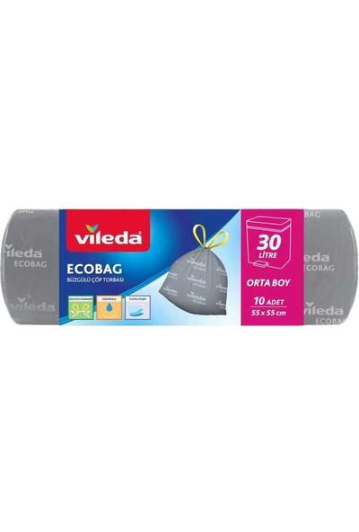 Vileda Ecobag Büzgülü Çöp Torbası 55X55CM Orta Boy 15LI
