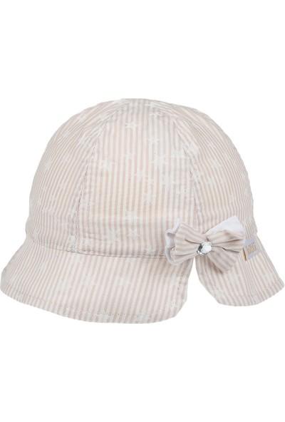 Vitrinmixmini Yıldız Desenli Kız Çocuk Şapkası (18 Cm)