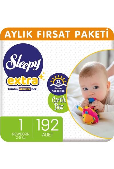Sleepy Extra Aylık Fırsat Paketi Günlük Aktivite Bezi 1 Numara Yenidoğan 192'li