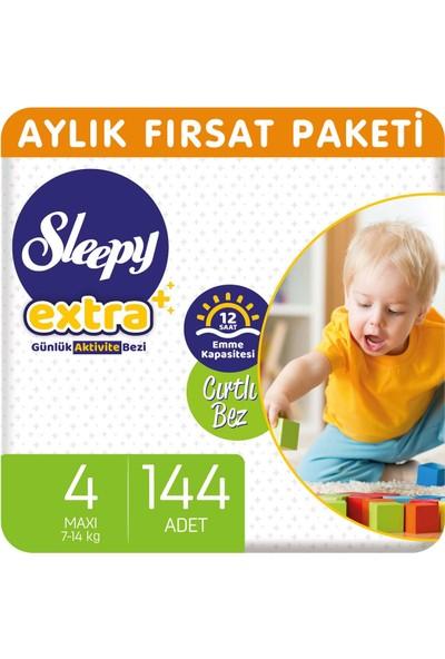 Sleepy Extra Aylık Fırsat Paketi Günlük Aktivite Bezi 4 Numara Maxi 144'lü