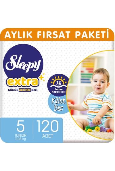 Sleepy Extra Aylık Fırsat Paketi Günlük Aktivite Külot Bez 5 Numara Junior 120'li