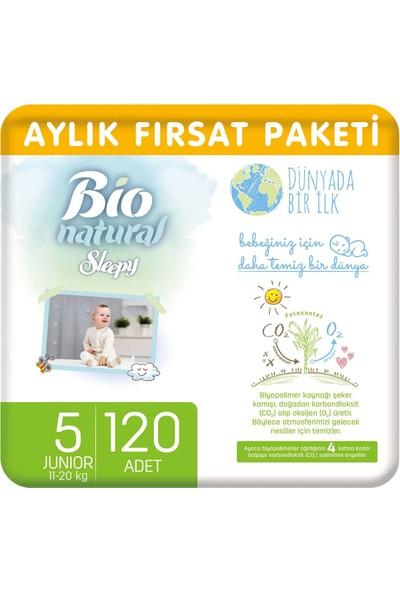 Sleepy Bio Natural Aylık Fırsat Paketi Bebek Bezi 5 Numara Junior 120'li