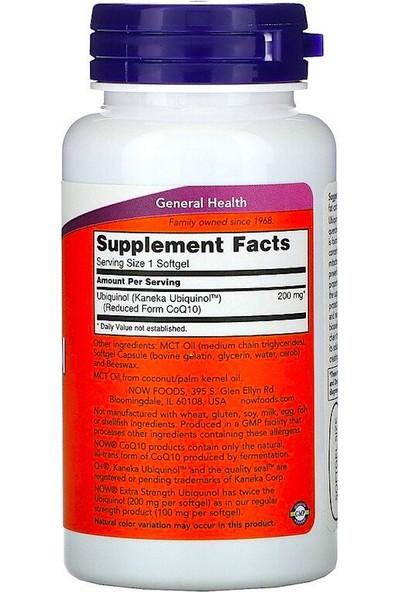 Now, Ubiquinol, 200 Mg, Extra Strength, 60 Softgels