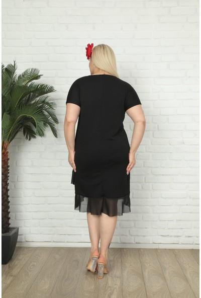 Kadın Büyük Beden Viskon Elbise 760