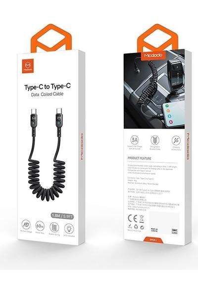 Mcdodo Ca- 7860 Type-C To Type-C Örgü LED Işıklı Data Sarj Kablosu