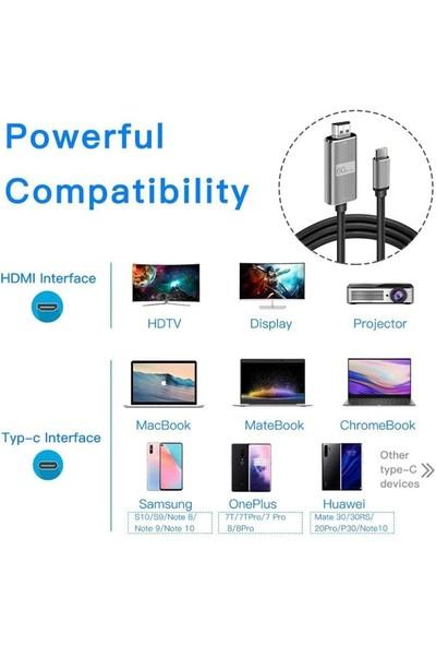 Daytona Hc-01 Type-C To 4K Ultra Full Hd HDMI Usb-C Tak Çalıştır Görüntü Aktarım Kablosu
