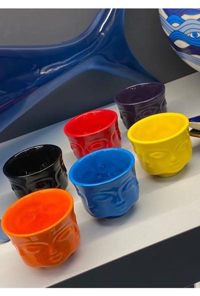 Beysüs Adler Kahve Fincanı Renkli 6 Lı