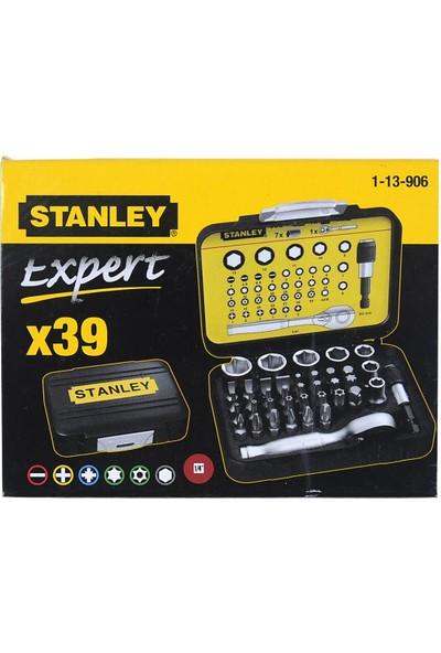 Stanley 1-13-906 Fatmax 39'lu ¼ Bits + Lokma Seti Manyetik Tutucu ve Otomatik Lokma Kollu