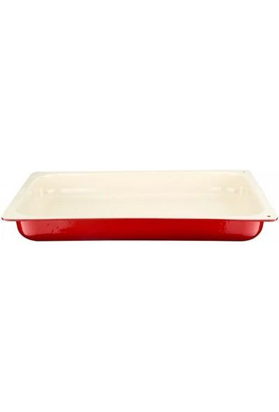 Lava 1/1 Gastronom Fırın Tepsi 32 * 53 cm Kırmızı Beyaz