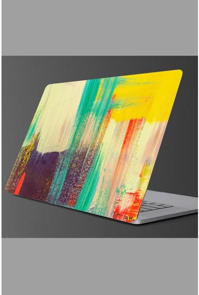 Sim Tasarım - SIM148- Laptop Renkli Fırça Izi Laptop Sticker