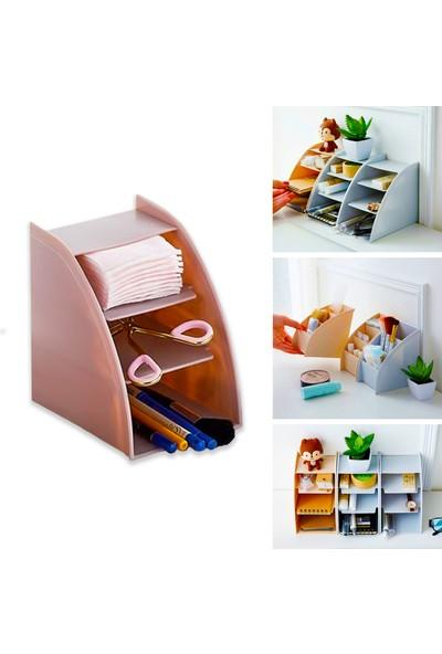 Ferhome Masaüstü Organizer Katlı Makyaj Kalemlik Mutfak Banyo Ofis Masaüstü Organizer Düzenleyici