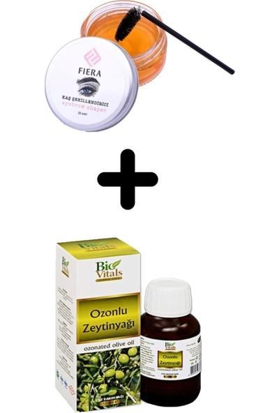 Bio Vitals Ozonlu Zeytinyağı 20 ml + Fiera Kaş Şekillendirme Wax Jeli