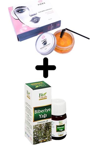 Bio Vitals Biberiye Yağı 20 ml + Fiera Kaş Şekillendirici Jel